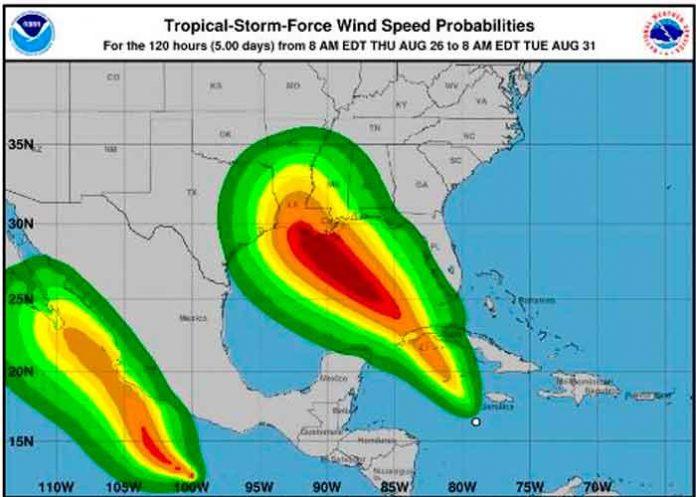 INETER: Se forma Depresión Tropical Nueve en el Mar Caribe Occidental
