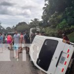 nicaragua, carazo, accidente de transito, vuelco,