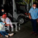 Accidente deja dos lesionados en la segunda entrada de Las Colinas en Managua