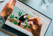 tecnologia, microsoft, nuevo diseño, paint, imagenes