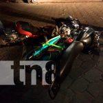 Tres lesionados tras fuerte impacto entre dos motocicletas en Jinotega / FOTO / TN8