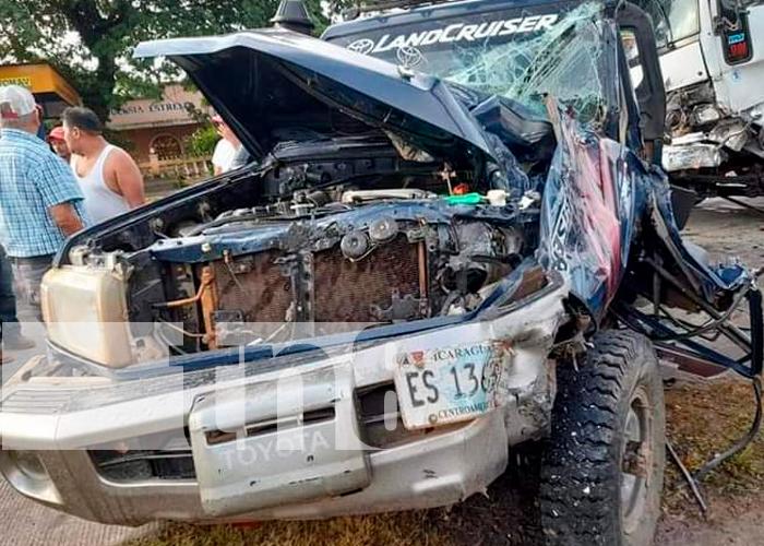 Imagen del accidente ocurrido en Mulukukú
