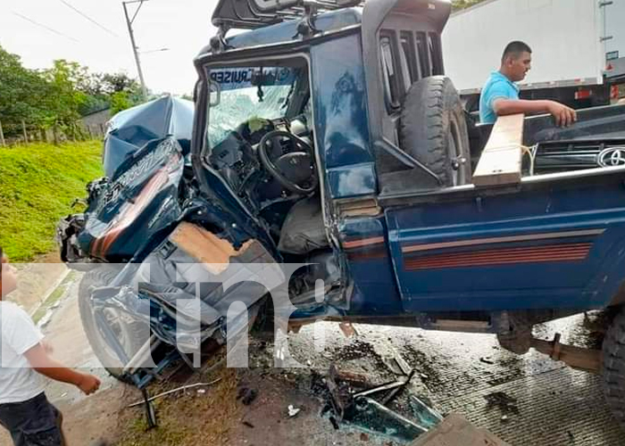 Accidente Mulukukú deja a un señor de la tercera edad en estado delicado