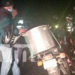 Motociclista catapulta a peatón y ambos terminan heridos en Diriamba / FOTO / TN8