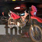Ciclista y motorizado impactan de manera violenta en Juigalpa / FOTO / TN8