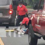 Accidente de tránsito con joven lesionado en Carazo