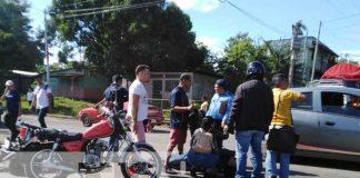 Accidente de tránsito en Managua por tirarse el Alto