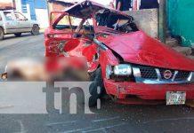 Escena de un accidente mortal ocurrido en el sector de San Judas