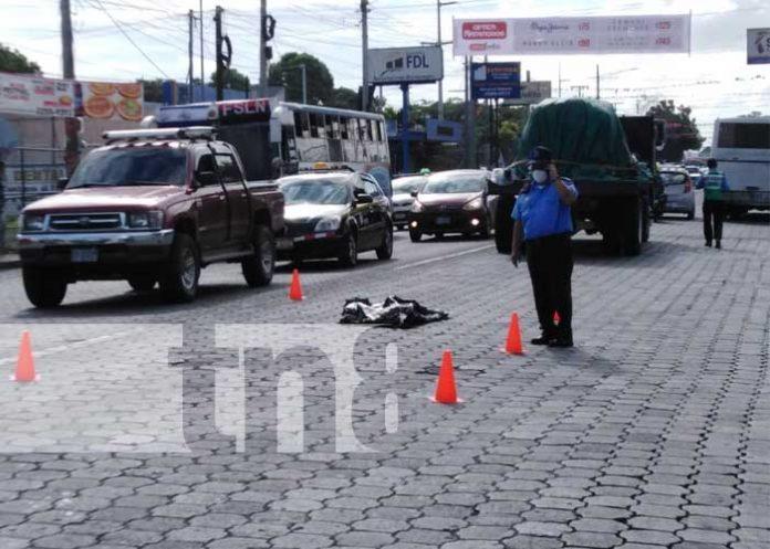 Accidente mortal que cobró la vida de un niño en Managua
