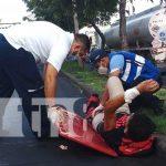 Imagen de un accidente de tránsito en Nicaragua
