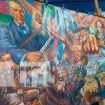 Inauguración de un enorme mural donde se resalta la gesta patriótica durante la guerra de 1856 y 1857