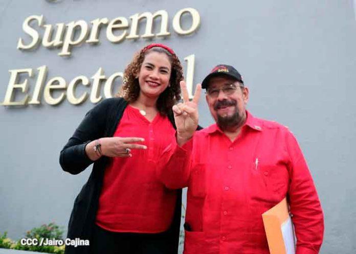 Alianza Unida Nicaragua Triunfa inscribió a sus candidatos ante el CSE
