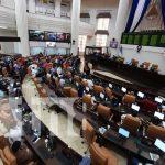Sesión en la Asamblea Nacional de Nicaragua