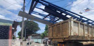Alcaldía de Managua ayuda a reconstruir vivienda afectada por lluvias