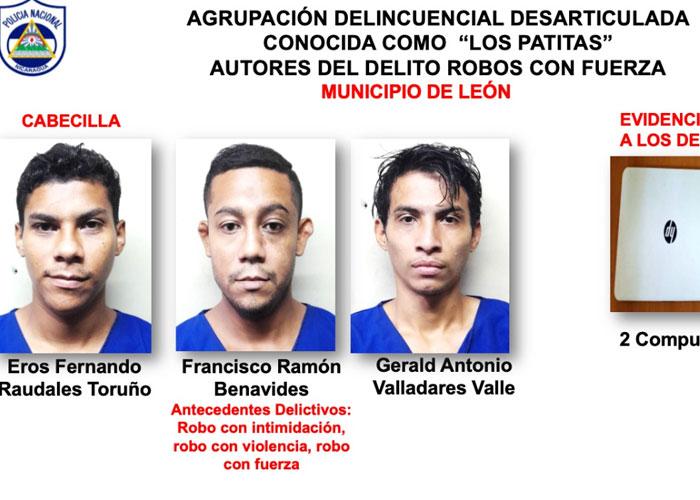Delincuentes por delitos de robo