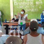 Pobladores del Caribe nicaragüenses reunidos para conocer de los proyectos de desarrollo