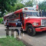 Escena donde un hombre perdió la vida en Ciudad Sandino tras pasarle llantas de un bus