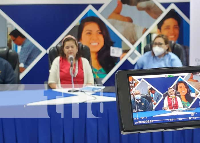 Conferencia de prensa sobre cedulación en Nicaragua
