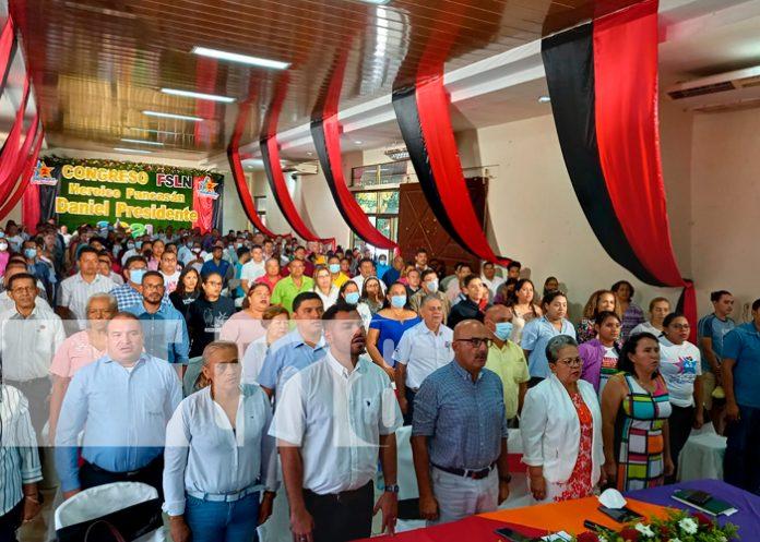Militancia sandinista de Chinandega participaron del Congreso Nacional del FSLN / FOTO / TN8