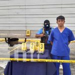 Presentación policial por incautación de cocaína en Chinandega