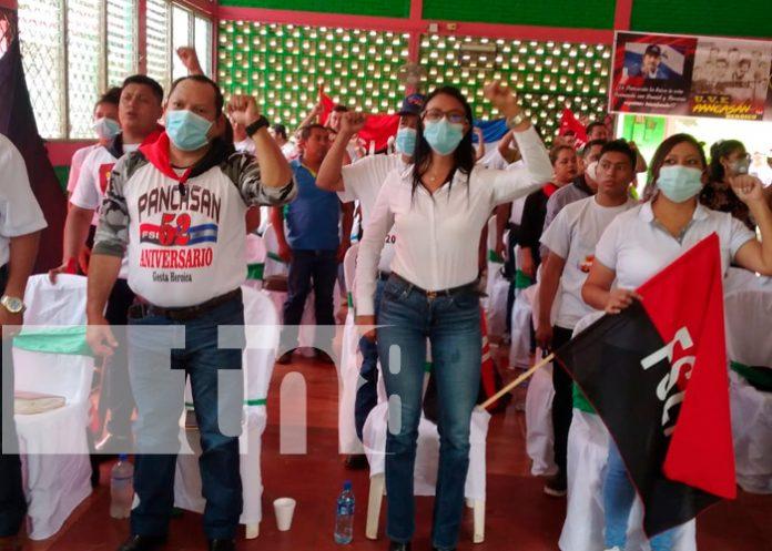 Militantes sandinistas de Río Blanco ratifica la Fórmula Presidencial / FOTO / TN8