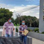 Representantes del PLC denunciando al CxL por violaciones a ley electoral de Nicaragua