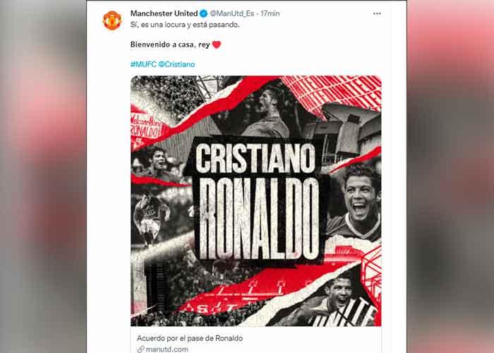 Cristiano Ronaldo ficha por el Manchester United