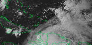 Depresión tropical Grace descarga lluvias torrenciales en Haití / Twitter.com/INSMET_CMP_CMG/