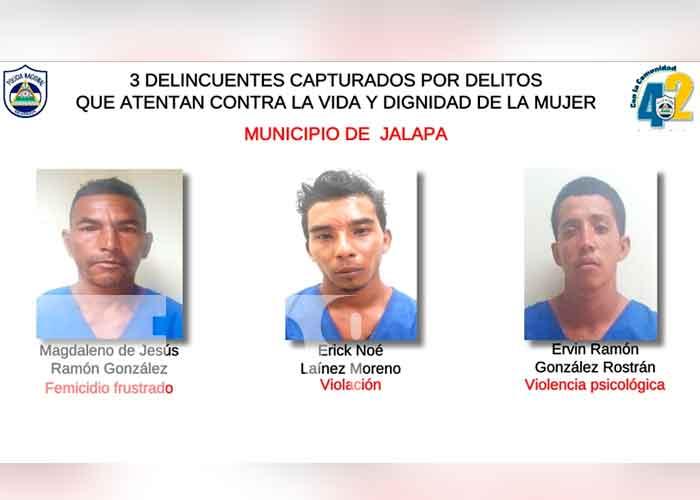 11 personas detenidas por delitos de peligrosidad en Nueva Segovia