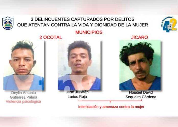 11 personas detenidas por delitos de peligrosidad en Nueva Segovia / FOTO / TN8
