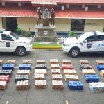 Decomisan 2 mil 300 paquetes con droga dentro de contenedores en Panamá