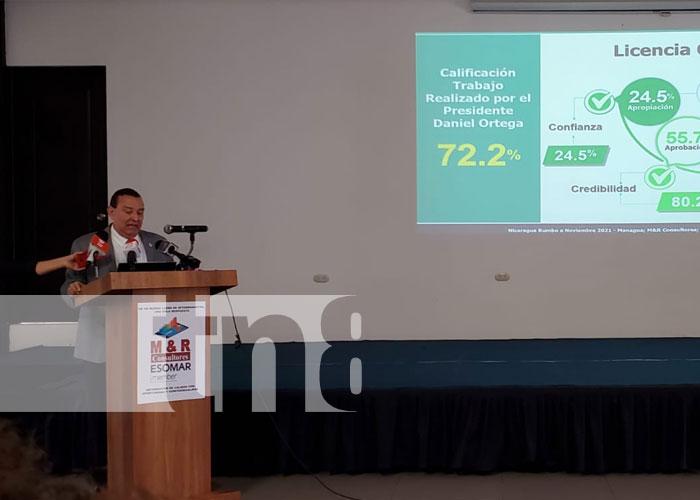 Presentación de la encuesta de M&R sobre voto a favor del FSLN