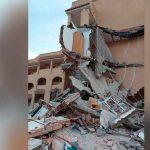 Edificio de tres plantas se derrumba en España