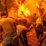Isla de Eubea en Grecia continúa ardiendo por los incendios forestales