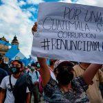 Continúan las protestas en Guatemala en contra de Giammattei