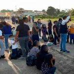 Caravana de migrantes varados en Guatemala