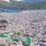 Toneladas de basura inundan los costas de la playa