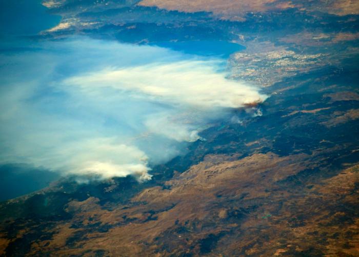 Imagen de los incendios en Turquía desde la Estación Espacial Internacional
