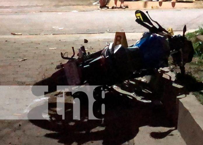 Con severas lesiones resulto el joven Yader Peralta tras sufrir un accidente de tránsito en Jalapa