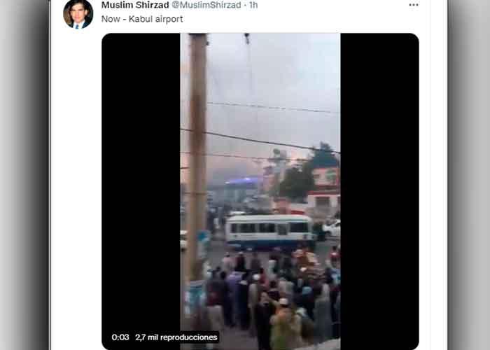 Reportan un incendio en el Aeropuerto de Kabul