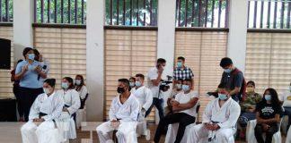 Conferencia de prensa sobre competencia de karate en Nicaragua