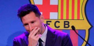 Entre lágrimas Messi se despide del FC Barcelona
