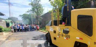 Obras de Calles para el Pueblo en Managua