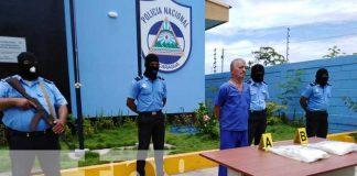 Conferencia de prensa sobre incautación de cocaína en Managua