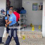 Escena del asalto que dejó a una persona fallecida en Matagalpa