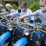 Motos donadas por Taiwán para el INTA