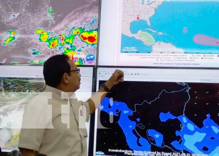 Conferencia de prensa desde el INETER, sobre lluvias en Nicaragua