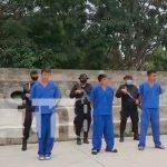 Policía nacional presenta a delincuentes detenidos por diferentes delitos
