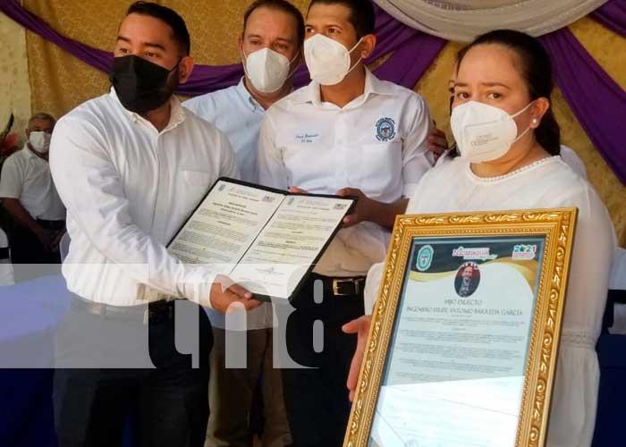 """Homenaje a Felipe Barrera García es declarado """"Hijo Dilecto"""" de Ocotal"""