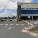 La planta de reciclaje de basura en Auckland, Nueva Zelanda